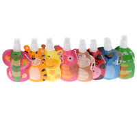 Animal Fold Water Bags Squeeze Bag Reusable Food Pouch Toys for Kids Children