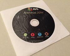 AVG AntiVirus 2014 3 PC User / 2 Year Disk with Key CD Software