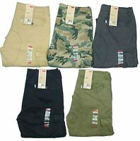 Levis Mens Cargo Pants Relaxed Fit MANY SIZES & COLORS Camo Khaki Black New!!