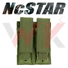 Tactical Double Pistol Magazine Clip Pouch PALS MOLLE Stack Heavy Duty PVC Green