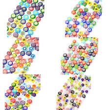 "16"" Strd Colorful Handmade Lampwork Glass Beads Millefiori Flower Beading Craft"