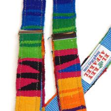 EL REY APPAREL Colorful Ethnic Mexican South American Men's Braces Suspenders