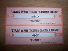 "2 MECO Star Wars Theme / Funk Jukebox Title Strip CD 7"" 45RPM Records"