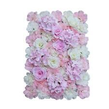 2x Silk Hydrangea Rose Flower Wall Panel Home Wedding Backdrop DIY Decor
