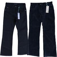 Womens' Ex M&S Bootcut Jeans Portfolio Black Denim / Moleskin Stretch