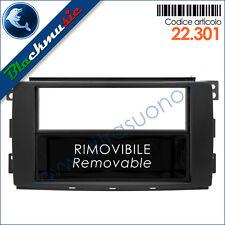 Mascherina autoradio 2ISO-2DIN Smart ForTwo 2 (W451 2007-2010) Nero + cassetto