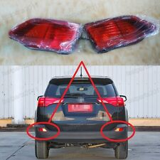LH RH Rear Bumper Reflector Light Fog Lamps Pair For Toyota RAV4 2013-2015