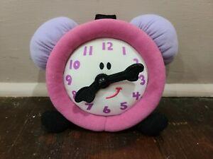 "Vintage Eden Blues Clues 6"" Tickety Tock Clock Plush Toy"