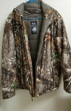 Mens Real Tree Hunting Jacket Large Mossy Oak Coat Excellent!