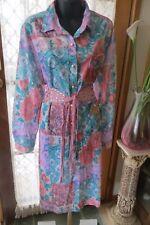 VINTAGE   ~ Shirt Style/Mod Floral  DRESS/BELT * Size 22  *