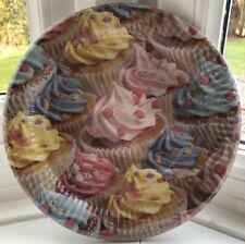 """Realistic Novelty Cupcake Swirl Round Paper Party Celebration Plates 9"""" 8 Pack"""