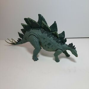 "Rare HARD TO FIND Jurassic World Stegosaurus action figure green 14"" NO BOX"