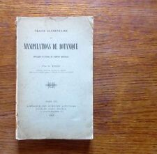 Agriculture MANIPULATION DE BOTANIQUE Plantes agricoles 1907 A restaurer  rare