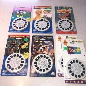 New MIP TYCO View-Master Lot 7 Reels 3D Disney Batman Muppets Sesame Pooh Mickey
