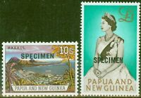 Papua & New Guinea 1963 Specimen set of 2 SG44s-45s Very Fine MNH