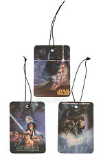 NEW STAR WARS MOVIE 3 PACK VANILLA SCENT HOME CAR Air Freshener LASTING SMELL