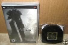 PSP Crisis Core Final Fantasy VII 7 Metallic Cover Edition New + Shinra UMD Case