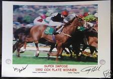 SUPER IMPOSE 1992 COX PLATE signed Print