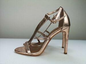 NEXT Rose Gold Ladies Women High Heel Sandal Shoe Size 4.5 37.5