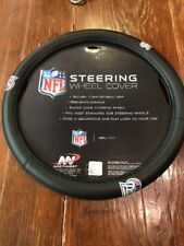 New England Patriots Steering Wheel Cover NFL Football Logo Faux Leather Grip
