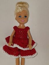 Handmade Chelse/Kelly mattel doll clothes - Red