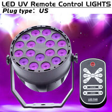 18W 18LEDs UV Black Light DMX Stage Light Sound Active Party DJ Club Lighting US