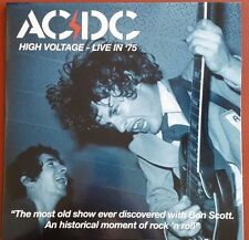 AC/DC HIGH VOLTAGE LIVE IN '75, BON SCOTT GREEN COLORED VINYL 2-LP SET GATEFOLD