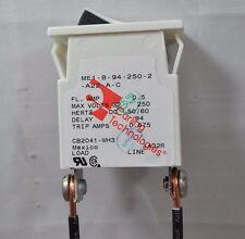 NEW Carling Tech Circuit Breaker Rocker Switch M Series ME1-B-94-250-2-A22-A-C
