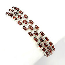 Armband, 925 Sterling Silber, 69 St. NATURAL 5x3mm ORANGE MOZAMBIQUE GARNET, Neu