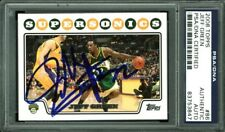 Sonics Jeff Green Authentic Signed Card 2008 Topps #86 PSA/DNA Slabbed
