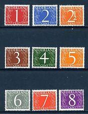 NVPH  460-468 (Van Krimpen cijferserie) postfris