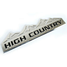 CHROME HIGH COUNTRY METAL OEM EMBLEM/BADGE/LOGO FOR TRUNK HOOD DOOR