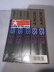 New 5 Lot Sony T-120 ES High Grade VHS T-120 ES HG