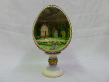 Jim Shore Small Town Big Blessings Egg With Church Diorama Figurine #4007545