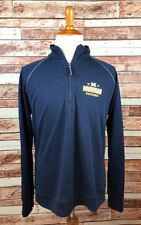 Michigan Wolverines LARGE navy Pullover 1/4 Zip Jacket