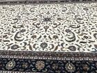 Exquisite Fine Quality Handmade In India Palace Size Floral Oriental Rug, 14x24