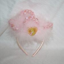 The Disney Store Sleeping Beauty Costume Light Pink Faux Fur Tiara Princess
