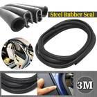 3m Black Rubber Sealing Strip Weatherstrip For Car Door Interior Exterior Trim