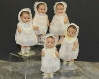 DIONNE  QUINTUPLETS - VINTAGE COMPOSITION - COMPLETE SET OF FIVE
