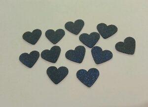 100 Navy heart embellishment table decoration DIY wedding invitation card making