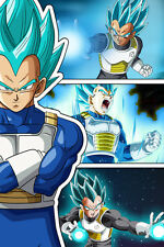 Dragon Ball Super/Z Vegeta Super Saiyan Blue 12in x 18in Poster Free Shipping