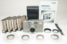 CONTAX T3 Titanium Silver Data Back Double Teeth Near MINT #1388 Shooting Tested