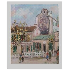 Maurice Utrillo - Lapine Agile - Large Size 25 X 20 inches