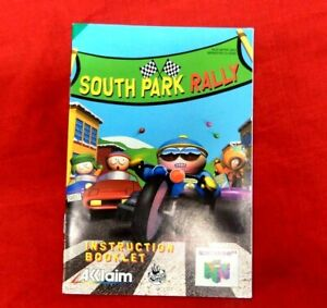 SOUTH PARK RALLY - USED MANUAL ONLY - NINTENDO 64 - NOT A GAME - UK