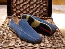 """Prada Mens Blue Suede Sport Sneakers Loafers Size 7.5 / 7 EU """"Prada Italy"""""""