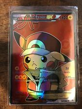 Read the Description Pokemon GX Ex Mega Orica (M) Pikachu Crew Red Full Art Ash