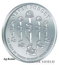 1 oz 2018 Gulf of Tomkin BU - Never Forget #3 Silver Shield 9-11 Inside Job 999