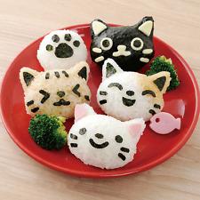 PP Kawaii Cat Rice Mold Sushi Egg Chocolate Mold DIY Kitchen Tool 4Pcs/Set