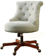 Office Chair Seat Desk Adjustable Height Padded Upholstered Natural Polyester
