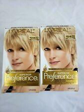 New Lot of 2 L'Oreal Paris Superior Preference #9.5NB Lightest Natural Blonde